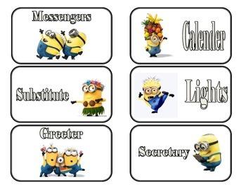 Classroom Jobs Minion