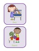 Classroom Jobs Mobile Display in Purple