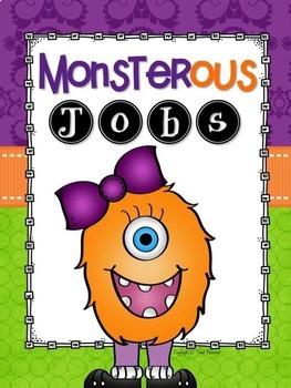Classroom Jobs Clip Chart {Monsters Classroom Decor Theme}
