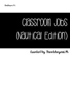 Classroom Jobs (Nautical Theme)