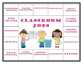Classroom Jobs Organizer