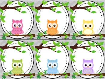 Classroom Jobs (Owl Theme)