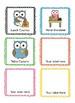 Classroom Jobs Owl Themed