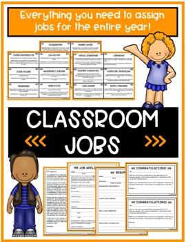 Classroom Jobs- Application, Resume and Job Descriptions
