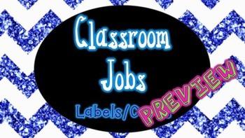 Classroom Jobs Pack - Glitter and Chevron