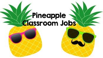 Classroom Jobs Pineapple Decor