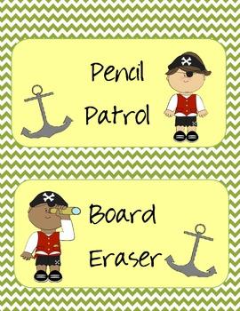 Classroom Jobs (Pirate Theme)