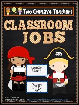 Classroom Jobs Pirate Theme 2
