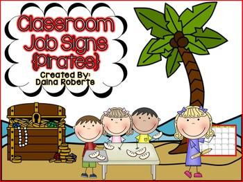Classroom Jobs {Pirates}