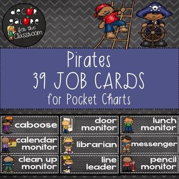 Classroom Jobs - Pirates Decor