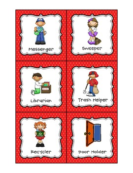 Classroom Jobs Pocket Chart or Magnetic Set