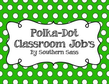 Classroom Jobs - Polka-Dot