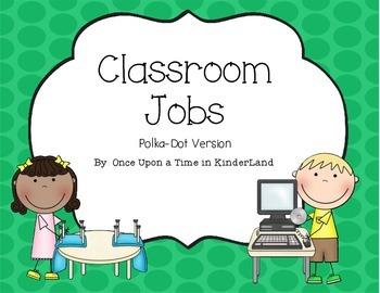 Classroom Jobs Polka Dot Version