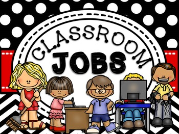 Classroom Jobs {Polka Dot and Red} 2 Versions & Editable