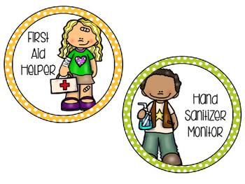 Classroom Jobs {Polka Dots}