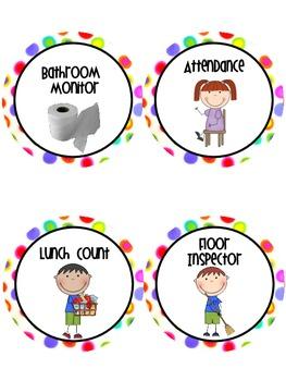 Classroom Jobs- Polka Dots