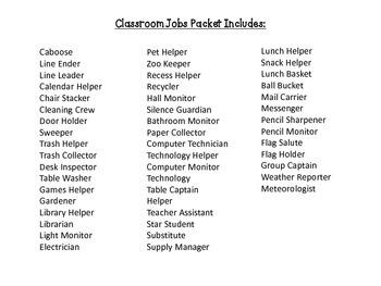 Classroom Jobs - Polka dots