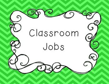 Classroom Jobs Poster