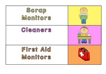 Classroom Jobs Poster Cards
