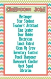 Classroom Jobs Poster (Editable)