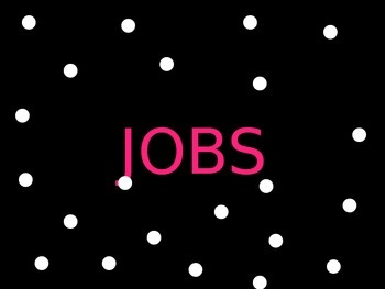 Classroom Jobs Poster (polka dot theme)