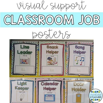 Visual Support Classroom Jobs Posters