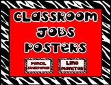 Classroom Jobs Posters (Black, White, and Red)
