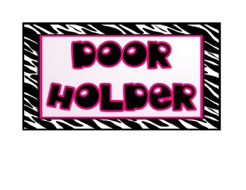 Classroom Jobs Posters (Black, White, and Hot Pink)