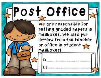 Classroom Jobs:  Posters & Job Application!