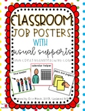 Visual Support Classroom Job Posters- Primary Colors