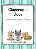 Classroom Jobs Posters Woodland Animal Theme