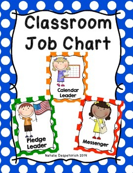 Classroom Jobs -  Multi-Colored Polka Dot Theme
