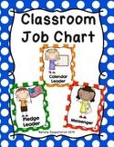 Classroom Jobs -  Multi-Colored Polka Dot Theme