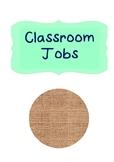 Classroom Jobs Printout