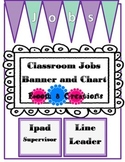 Classroom Jobs-Purple and Turquoise Stripes