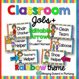 Classroom Jobs Display - Rainbow