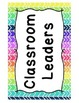 Classroom Jobs {Rainbow Arrow Chevron}