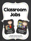 Classroom Jobs - Rainbow Chalkboard Theme