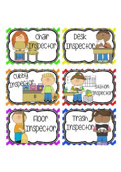 Classroom Jobs - Rainbow Chevron
