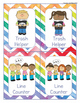 Classroom Jobs Rainbow Chevron Watercolor