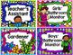 Classroom Jobs: Rainbow Colors