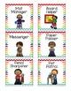 Classroom Jobs Rainbow Themed Labels - EDITABLE