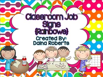 Classroom Jobs {Rainbows}