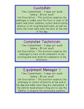 Classroom Jobs (Real Life)