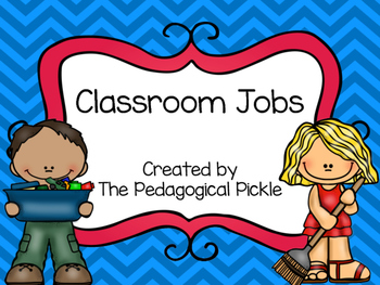 Classroom Jobs -- Red & Blue Color Scheme