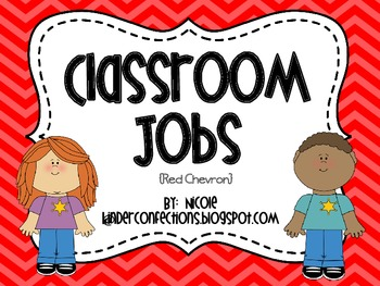 Classroom Jobs- Red Chevron