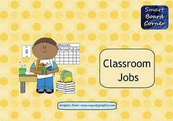 Classroom Jobs SMART Board Activity with Koosh Ball Template