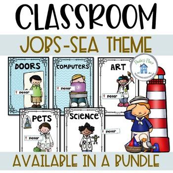 Classroom Jobs Sea Theme