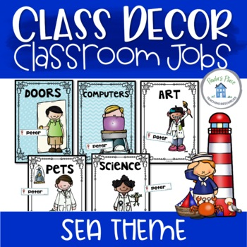 Classroom Jobs - Sea Theme