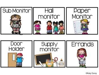 Classroom Jobs Set: 33 Labels (Melonheadz Kids)